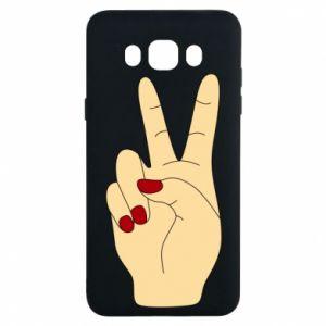 Etui na Samsung J7 2016 Hand peace