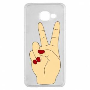 Etui na Samsung A3 2016 Hand peace