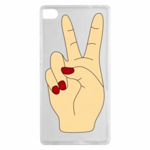 Etui na Huawei P8 Hand peace