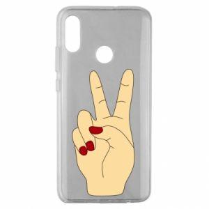 Etui na Huawei Honor 10 Lite Hand peace