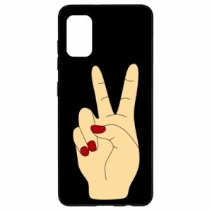 Etui na Samsung A41 Hand peace