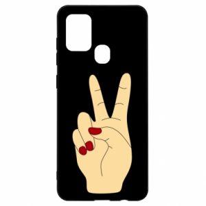 Etui na Samsung A21s Hand peace