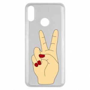 Etui na Huawei Y9 2019 Hand peace