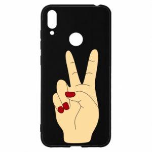 Etui na Huawei Y7 2019 Hand peace