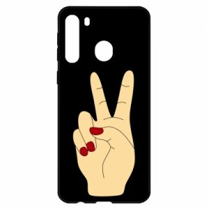 Etui na Samsung A21 Hand peace