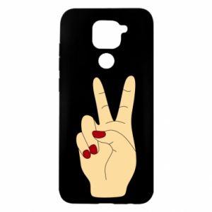 Etui na Xiaomi Redmi Note 9/Redmi 10X Hand peace