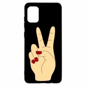 Etui na Samsung A31 Hand peace