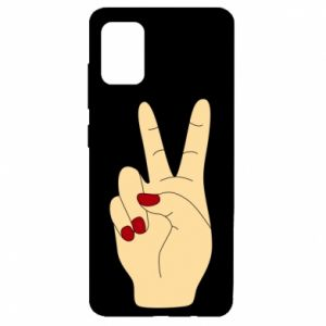 Etui na Samsung A51 Hand peace