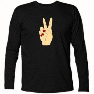 Long Sleeve T-shirt Hand peace - PrintSalon