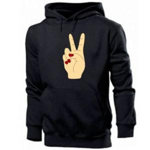 Men's hoodie Hand peace - PrintSalon