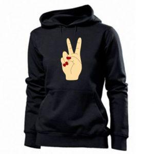 Women's hoodies Hand peace - PrintSalon