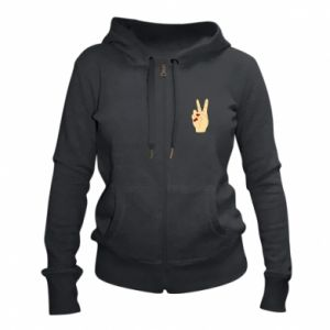 Women's zip up hoodies Hand peace - PrintSalon
