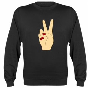Sweatshirt Hand peace - PrintSalon