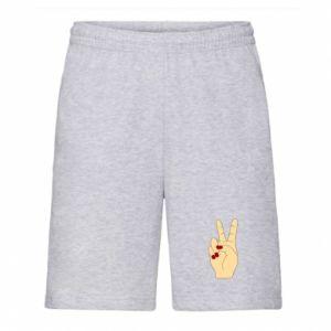 Men's shorts Hand peace - PrintSalon