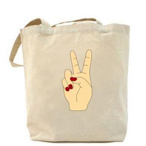 Bag Hand peace - PrintSalon