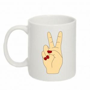 Mug 330ml Hand peace - PrintSalon