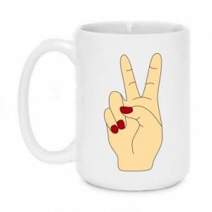 Mug 450ml Hand peace - PrintSalon