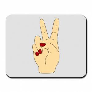 Mouse pad Hand peace - PrintSalon
