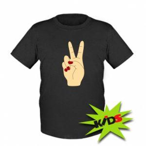 Kids T-shirt Hand peace - PrintSalon