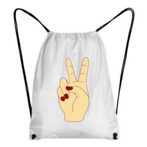 Backpack-bag Hand peace - PrintSalon
