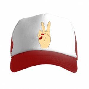 Trucker hat Hand peace - PrintSalon