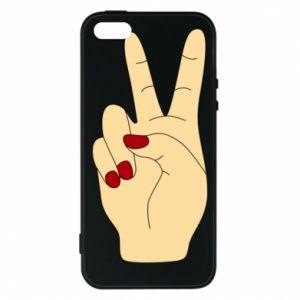 Phone case for iPhone 5/5S/SE Hand peace - PrintSalon