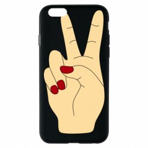 Phone case for iPhone 6/6S Hand peace - PrintSalon