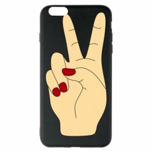 Phone case for iPhone 6 Plus/6S Plus Hand peace - PrintSalon