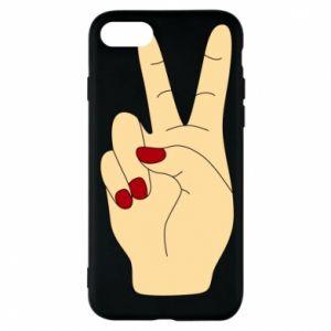 Phone case for iPhone 8 Hand peace - PrintSalon