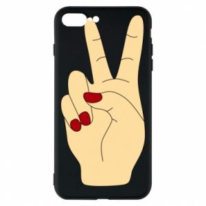 Phone case for iPhone 8 Plus Hand peace - PrintSalon