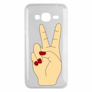 Phone case for Samsung J3 2016 Hand peace - PrintSalon