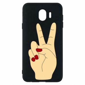 Phone case for Samsung J4 Hand peace - PrintSalon