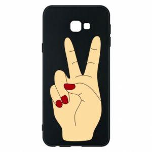Phone case for Samsung J4 Plus 2018 Hand peace - PrintSalon