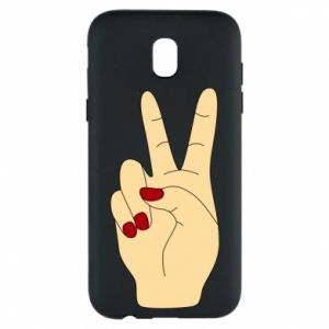 Phone case for Samsung J5 2017 Hand peace - PrintSalon