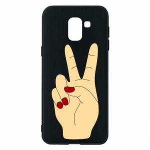 Phone case for Samsung J6 Hand peace - PrintSalon