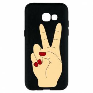 Phone case for Samsung A5 2017 Hand peace - PrintSalon