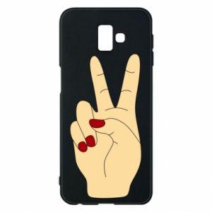 Phone case for Samsung J6 Plus 2018 Hand peace - PrintSalon