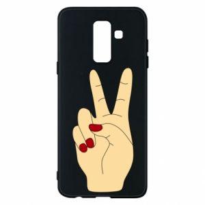 Phone case for Samsung A6+ 2018 Hand peace - PrintSalon