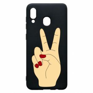 Phone case for Samsung A20 Hand peace - PrintSalon