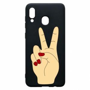 Phone case for Samsung A30 Hand peace - PrintSalon