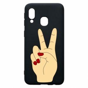 Phone case for Samsung A40 Hand peace - PrintSalon