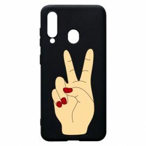 Phone case for Samsung A60 Hand peace - PrintSalon