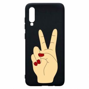 Phone case for Samsung A70 Hand peace - PrintSalon