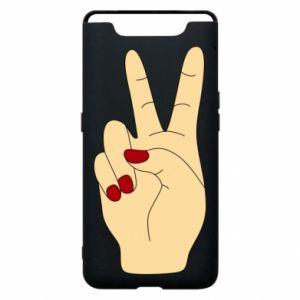 Phone case for Samsung A80 Hand peace - PrintSalon