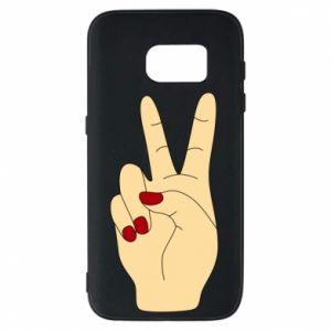 Phone case for Samsung S7 Hand peace - PrintSalon