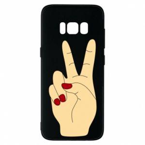 Phone case for Samsung S8 Hand peace - PrintSalon