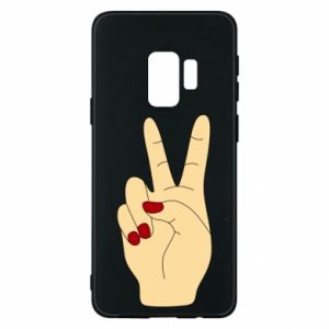 Phone case for Samsung S9 Hand peace - PrintSalon