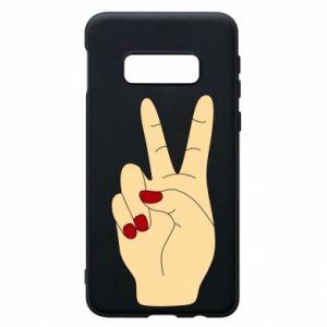 Phone case for Samsung S10e Hand peace - PrintSalon