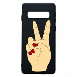 Phone case for Samsung S10 Hand peace - PrintSalon