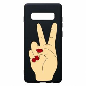 Phone case for Samsung S10+ Hand peace - PrintSalon